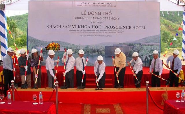 Chính thức khởi công dự án khách sạn Vì khoa học đầu tiên ở TP Quy Nhơn, tỉnh Bình Định.