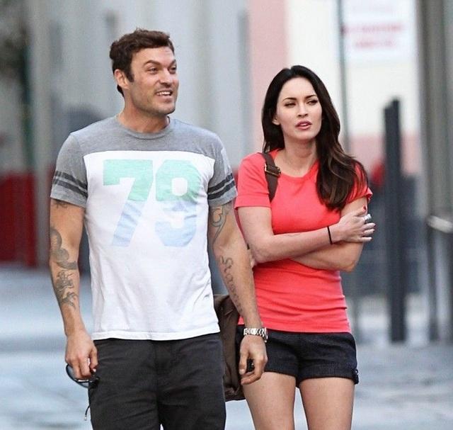 Nữ diễn viên Megan Fox (24 tuổi) và nam diễn viên Brian Austin Green