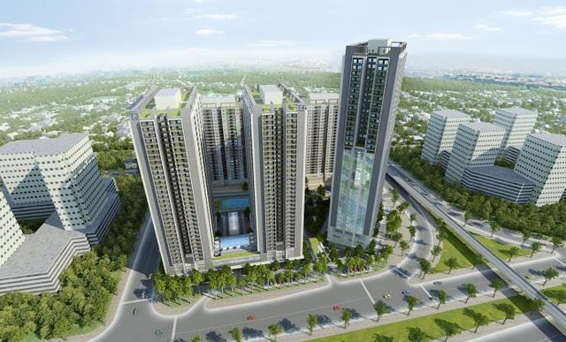 Thăng Long Capital nằm trên trục đường Đại lộ Thăng Long – tuyến đường huyết mạch phía Tây Hà Nội.