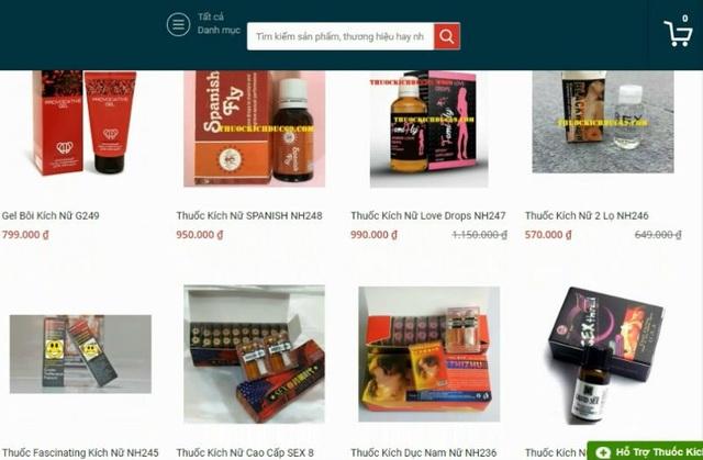 Một số mặt hàng bán trên mạng được cho là xuất xứ từ châu Âu