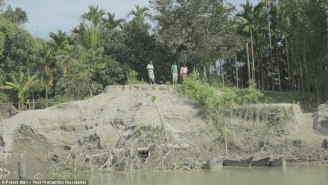 Bức ảnh này cho thấy ảnh hưởng của xói mòn đối với đảo Majuli.