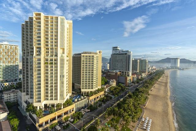 Toà tháp căn hộ 29 tầng với 100% các căn hộ hướng biển trực diện.