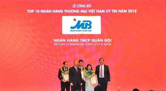 MB thăng hạng trong TOP 10 Ngân hàng thương mại Việt Nam uy tín năm 2018 - 1