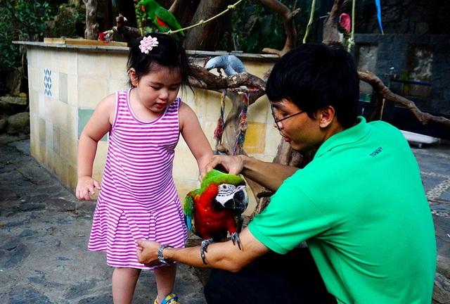 Quán thu hút nhiều gia đình có con nhỏ tới vui chơi.