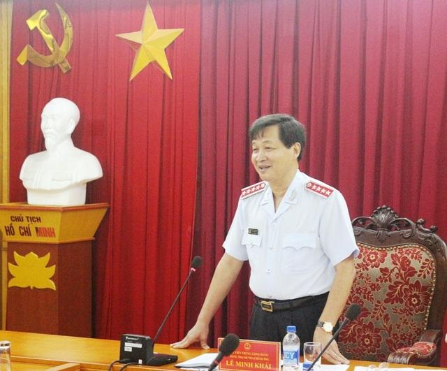 Tổng Thanh tra Chính phủ Lê Minh Khái phát biểu tại cuộc họp sáng 7/8 (Ảnh: TTCP).