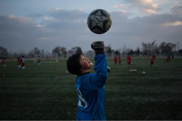 Giờ huấn luyện của các học viên tại Học viện Bóng đá Quốc tế Bình Nhưỡng. (Ảnh: AFP)