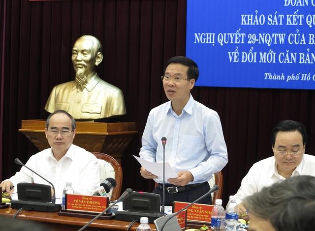 Trưởng Ban tuyên giáo Trung ương Võ Văn Thưởng đánh giá cao nỗ lực phát triển giáo dục của TPHCM