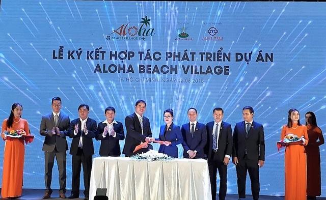 Lễ Ký Kết Hợp Tác Phát Triển giữa Tập Đoàn Việt Úc và Công ty Thiên Minh vào dự án căn hộ nghỉ dưỡng biển Aloha Beach Village.