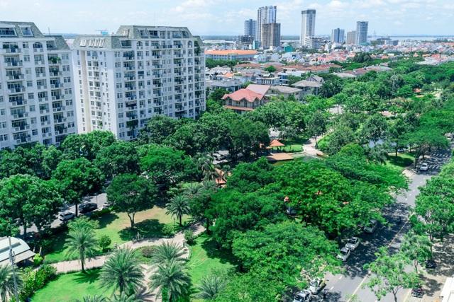 Mảng xanh quanh dự án mang đến nhiều giá trị cho người mua nhà. Ảnh công viên Nam Viên