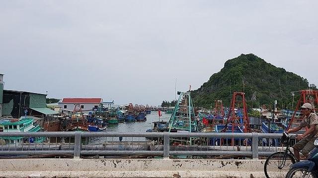 Một góc làng chài ở Kiên Giang