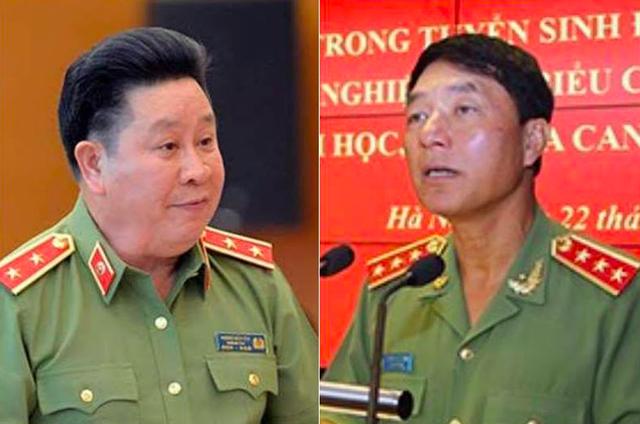 Thứ trưởng Bùi Văn Thành (trái) và cựu Thứ trưởng Trần Việt Tân của Bộ Công an