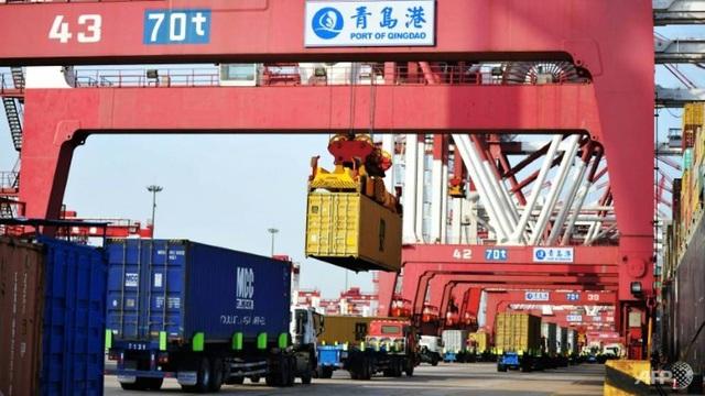 Một góc cảng Trung Quốc (Ảnh: AFP)