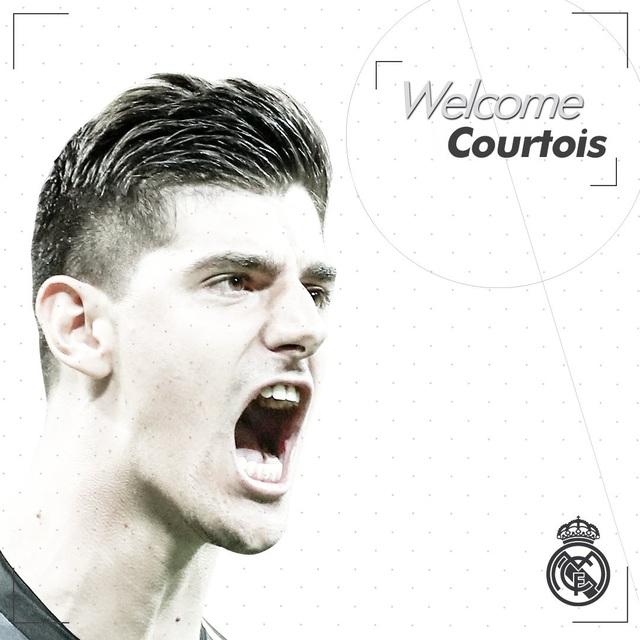 Courtois chính thức chuyển tới khoác áo Real Madrid