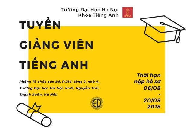 Cơ hội trở thành giảng viên của Đại học Hà Nội - 2