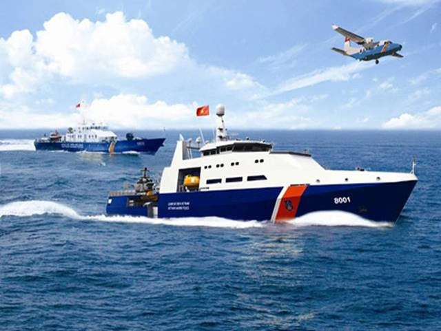 Cảnh sát biển Việt Nam được sử dụng máy bay để tuần tra kiểm soát trên biển.