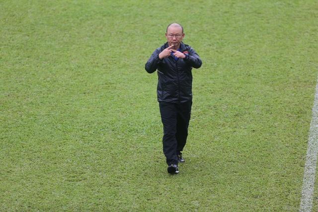 HLV Park Hang Seo tỏ ra rất lạc quan về triển vọng của đội nhà