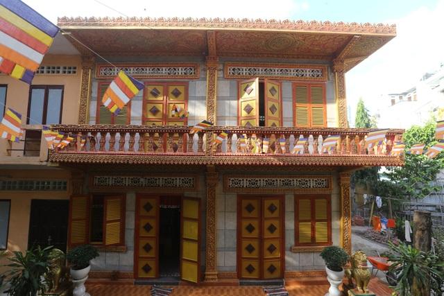 Nét kiến trúc độc đáo của chùa Khmer.