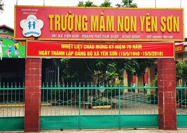 Trường Mầm non Yên Sơn, nhiều phụ huynh phát hiện thu chi bất minh trong năm học 2017 - 2018.