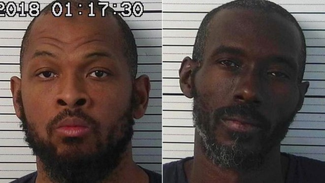 Tên Siraj Wahhaj (trái) và Lucas Morton bị bắt giữ. (Ảnh: AFP)