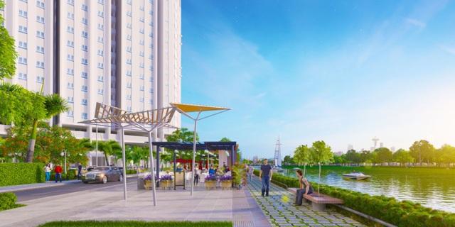 Khu chạy bộ ven sông Marina Site tại khu căn hộ Marina Riverside