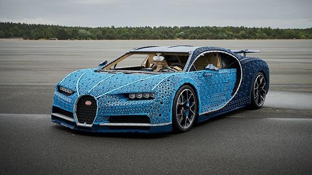 Chiếc Bugatti Chiron lắp ráp bằng LEGO có kích thước tương đương xe thật