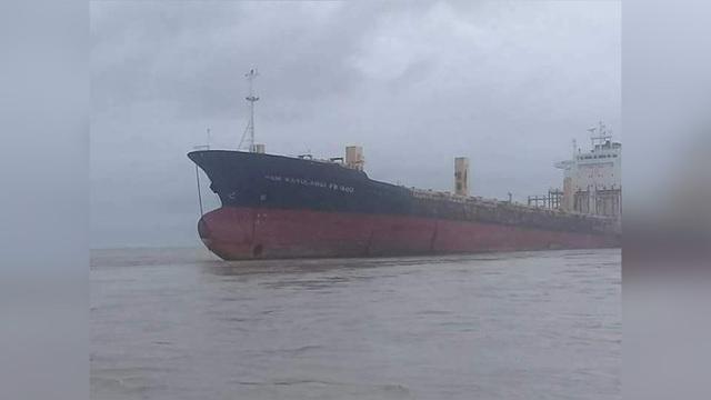 Tàu Sam Ratulangi PB 1600 xuất hiện sau gần 10 năm mất tích. (Ảnh: Yangon Police)