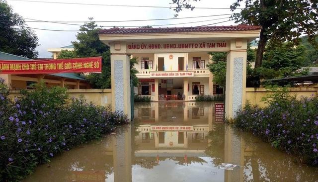 Nước ngập lớn tại nhiều địa phương thuộc tỉnh Nghệ An (Ảnh: Nguyễn Duy).