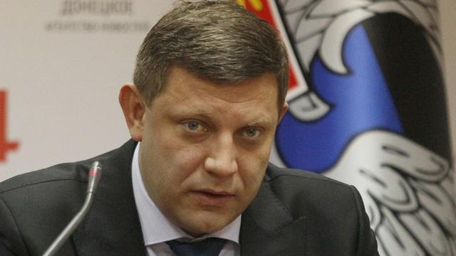 Lãnh đạo Donetsk Aleksandr Zakharchenko (Ảnh: Reuters)