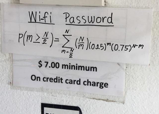Muốn vào Wi-Fi thì phải giải được bài toán đầy thử thách này.