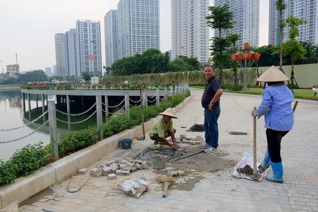 Toàn cảnh lá phổi xanh 130.000 m2 mới hoạt động ở Hà Nội - 12
