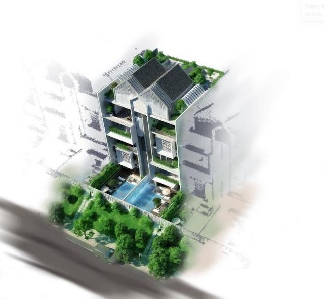 Phối cảnh biệt thự City Villas dự án EverGreen với hồ bơi riêng cho từng căn