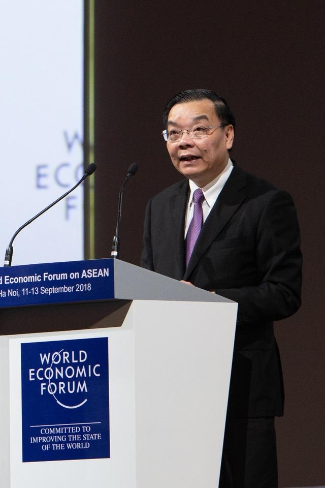 ông Chu Ngọc Anh, Bộ trưởng Bộ Khoa học và Công nghệ, phát biểu tại Diễn đàn mở: ASEAN 4.0 cho tất cả?