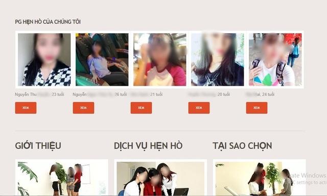 Trên một trang web cho thuê người yêu, các ứng viên được giới thiệu tỉ mỉ cho khách lựa chọn