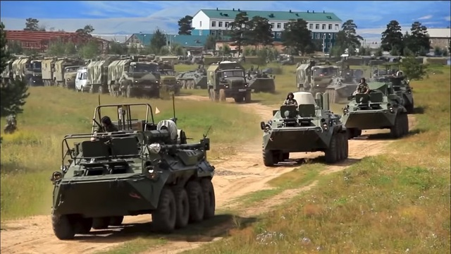 Cuộc tập trận có sự tham gia của khoảng 300.000 binh sĩ, quân nhân, hàng chục nghìn xe quân sự. (Ảnh: Bộ Quốc phòng Nga)