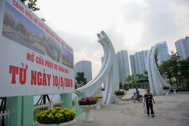 Toàn cảnh lá phổi xanh 130.000 m2 mới hoạt động ở Hà Nội - 2