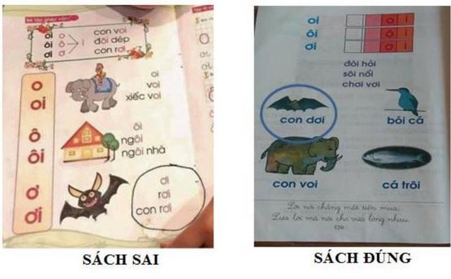 """Tài liệu Tiếng Việt lớp 1 - Công nghệ Giáo dục không có từ """"con dơi"""" hoặc """"con rơi"""" như cộng đồng mạng phản ánh. Nội dung in sai """"con dơi"""" thành """"con rơi"""" được in trong cuốn """"Luyện nét"""", không phải do Bộ Giáo dục & Đào tạo phát hành."""