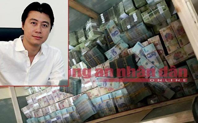Phan Sào Nam (ảnh nhỏ) và số tiền tang vật thu được. Ảnh: CAND