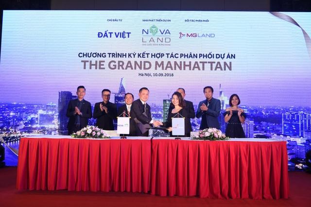 Lễ ký kết phân phối dự án The Grand Manhattan giữa Novaland và MGLAND