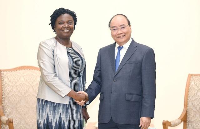 Thủ tướng Nguyễn Xuân Phúc và Phó Chủ tịch WB Kwakwa