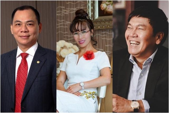 3 trong 4 tỷ phú của Việt Nam có cổ phiếu niêm yết trên sàn chứng khoán