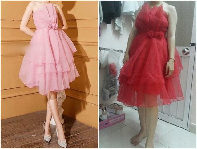 Nhìn qua thì hai chiếc váy cũng có nét giống nhau về kiểu cách nhưng rõ ràng là khác nhau một trời một vực
