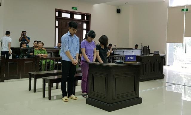 Ba bị cáo tại phiên xử phúc thẩm.