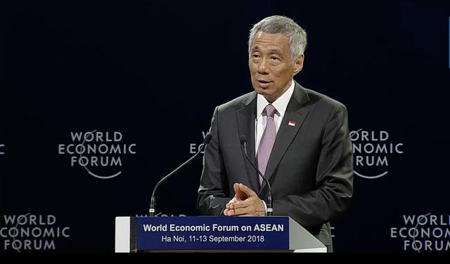 Thủ tướng Singapore Lý Hiển Long phát biểu