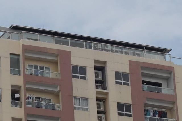 Một trong số các hạng mục xây trái phép trên tầng thượng