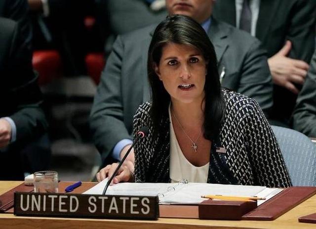 Đại sứ Mỹ tại Liên Hợp Quốc Nikki Haley (Ảnh: Hindu)