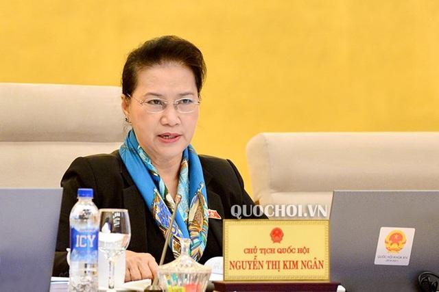 Chủ tịch Quốc hội Nguyễn Thị Kim Ngân: Cần có những quy định đảm bảo tiếp tục phát triển, nâng cao vị thế của hai trường Đại học quốc gia.