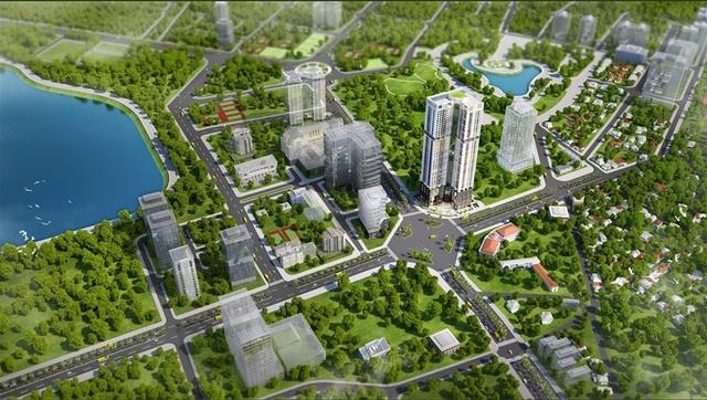 Golden Park Tower sở hữu vị trí đắc địa ngay ngã tư Phạm Văn Bạch & Dương Đình Nghệ