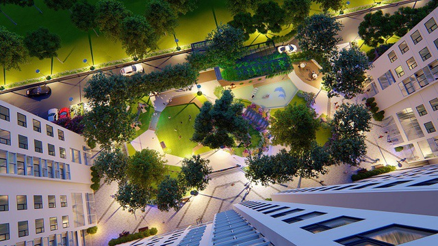 Anland Premium dành nhiều diện tích cho sân chơi khuôn viên