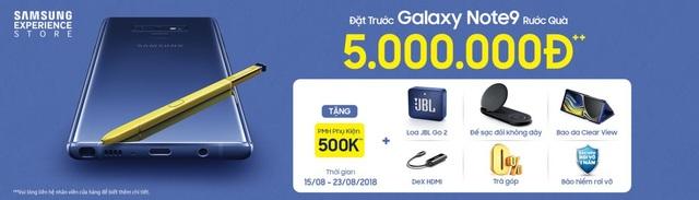Tại Việt Nam, Galaxy Note9 được trang bị kèm rất nhiều ưu đãi