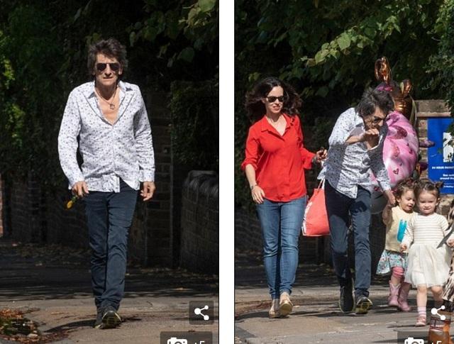Rocker nhóm Rolling Stones đã có 4 đứa con từ 35 tuổi tới 43 tuổi